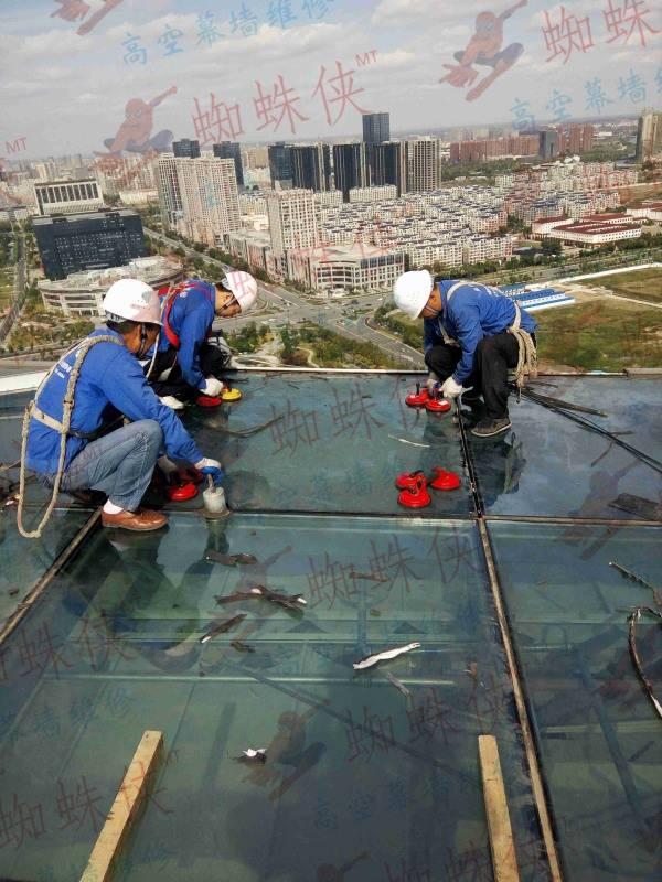 盐城电视塔幕墙玻璃更换维修