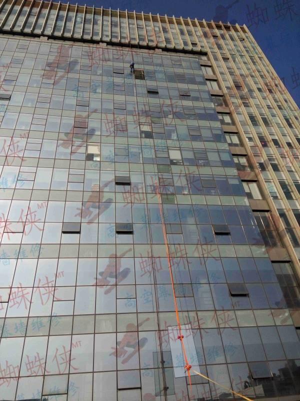 中国电科幕墙玻璃更换维修